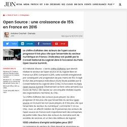 Open Source: une croissance de 15% enFrance en 2016