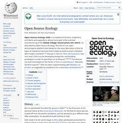 Open Source Ecology - Wikipedia