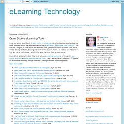 Open Source eLearning Tools