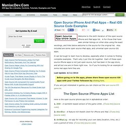 Open Source iPhone And iPad Apps – Real iOS Source Code Examples
