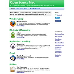 Open Source Mac - Free, Open-Source software for OS X