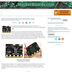 Open source Micro:bit SBC aims to get UK kids coding