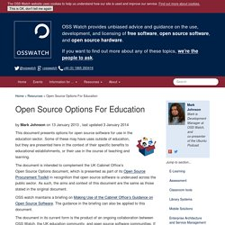 Open Source Options For Education