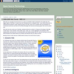 2008-2009 Web Trends - WEB 3.0