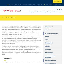 Open Source Technology - Webtecz Inc.