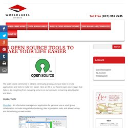 50 Open Source Tools to Make Your Life Easier