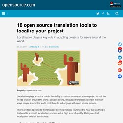 18 open source translation tools
