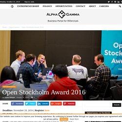 Open Stockholm Award 2016
