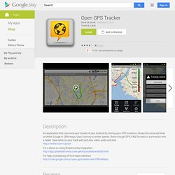 Open GPS Tracker - Android Market