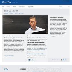 Milton — Open Yale Courses