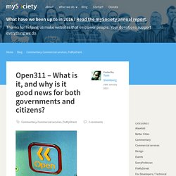 Open311 – What is it, and why is it good news for both governments and citizens?