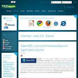 Open365 : une suite bureautique en ligne open source