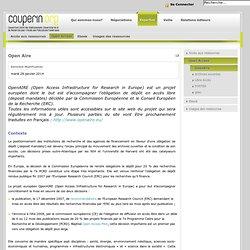 OpenAire - COUPERIN