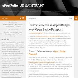 Créer et émettre ses OpenBadges avec Open Badge Passport – ePortFolio