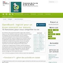 OpenBoard : logiciel pour un écran interactif sur mesure