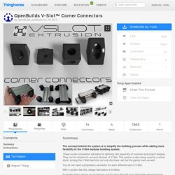 OpenBuilds V-Slot™ Corner Connectors by OpenBuilds
