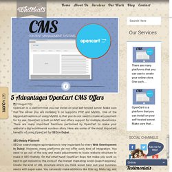 5 OpenCart Advantages As CMS  - WH Design