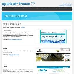 OpenCart - Boutiques en ligne