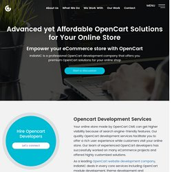 Opencart Development Company in India and USA