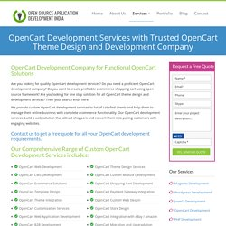 OpenCart Development Services: Opencart Development Company to Design