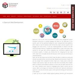 Opencart Ecommerce Web Development Company in India