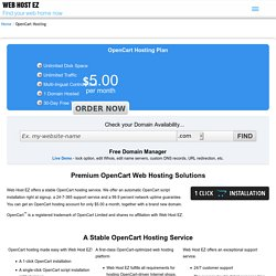 OpenCart Web Hosting by Web Host EZ from $5.00/mo