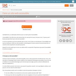 Faire un site web accessible
