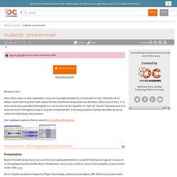Audacity : prise en main (cours en ligne)