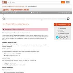 OpenClassrooms - TP : convertisseur de bases