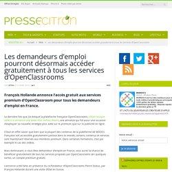 OpenClassrooms : tout sera gratuit pour les demandeurs d'emploi