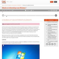 OpenClassrooms - Le Bureau et ses différents éléments