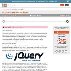 Un site web dynamique avec jQuery !