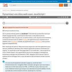 OpenClassrooms - Dynamisez vos sites web avec JavaScript !