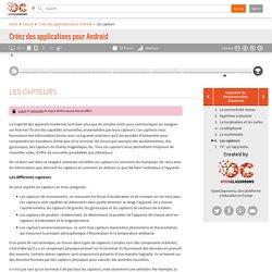 OpenClassrooms - Les capteurs