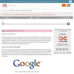 OpenClassrooms - Améliorez la visibilité de votre site grâce au référencement