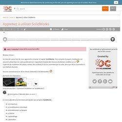 OpenClassrooms - Apprenez à utiliser SolidWorks