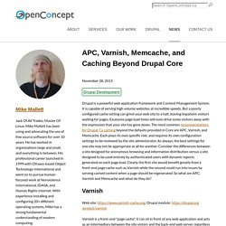 APC, Varnish, Memcache, and Caching Beyond Drupal Core