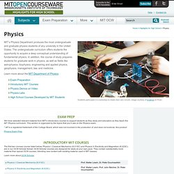 Free Online MIT Course Materials for High School | Physics | MIT OpenCourseWare
