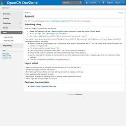OpenCV4Android - OpenCV DevZone