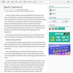 OpenCV Tutorial Part 6 - 推酷