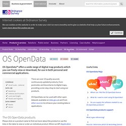 OS OpenData - high quality map data to download or order today