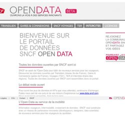 TEST OPEN DATA TRANSILIEN