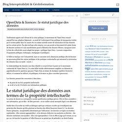 OpenData & licences : le statut juridique des données