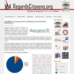 La moyenne pour un data.gouv.fr sous formats propriétaires