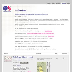 OS OpenData Supply - Download or order OS OpenData