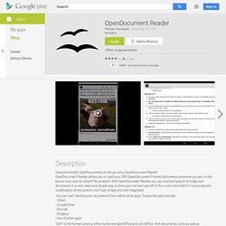 OpenOffice Document Reader - Applications sur l'Android Market