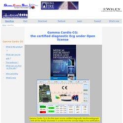 OpenEcg: Gamma Cardio CG, an open source certified ECG
