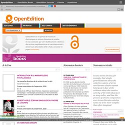 four platforms for electronic resources in the humanities and social sciences: OpenEdition Books, Revues.org, Hypotheses, Calenda