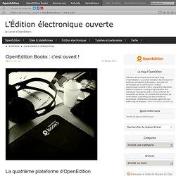 OpenEdition Books : c'est ouvert !