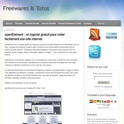 un logiciel gratuit pour créer facilement son site internet